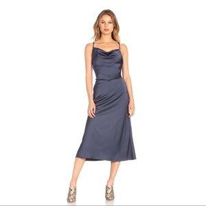 Cowl Neck Midi Slip Dress